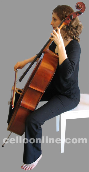 Cello Online How to Hold the Cello
